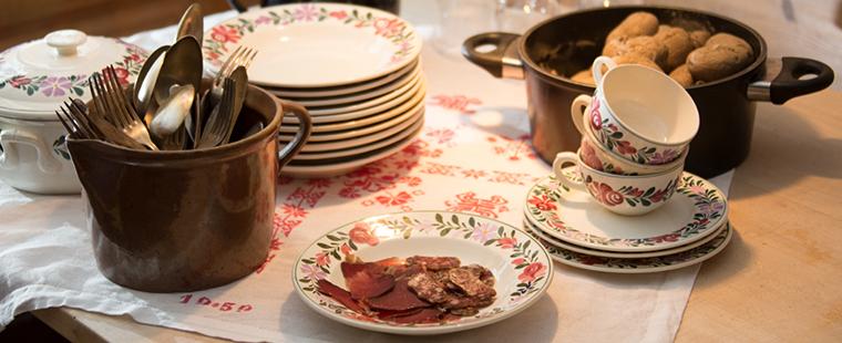 Migga Falett, Bergün GR - Rôti de bœuf dans le foin