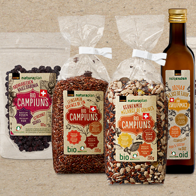 Coop - Superfood with a home advantage:  Naturaplan Bio Campiuns